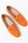Mokasyny loafersy orange